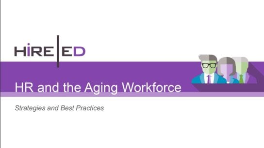 HR and the Aging Workforce