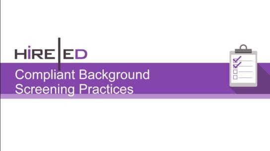 Compliant Background Screening Practices