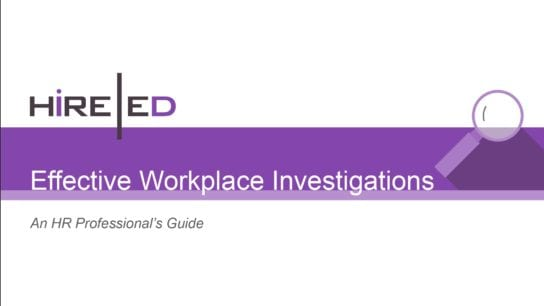 Effective Workplace Investigations