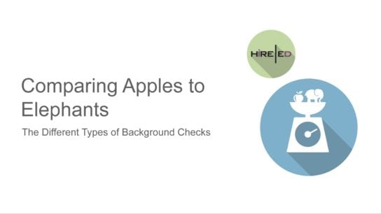 Comparing Apples to Elephants - Background Checks