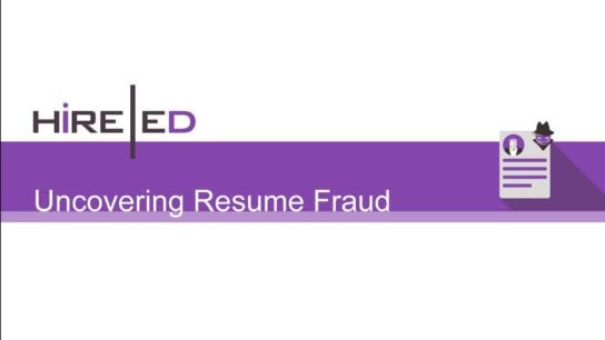 Resume Fraud
