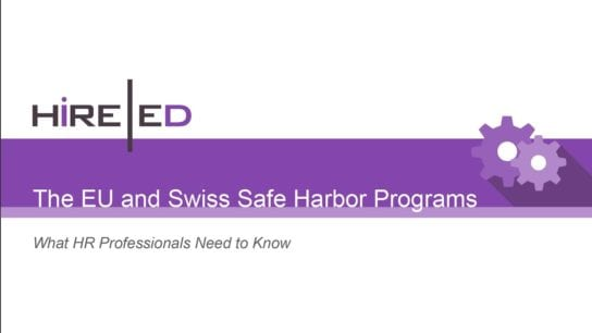 EU and Swiss Safe Harbor Programs