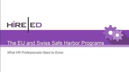 EU and Swiss Safe Harbor Programs